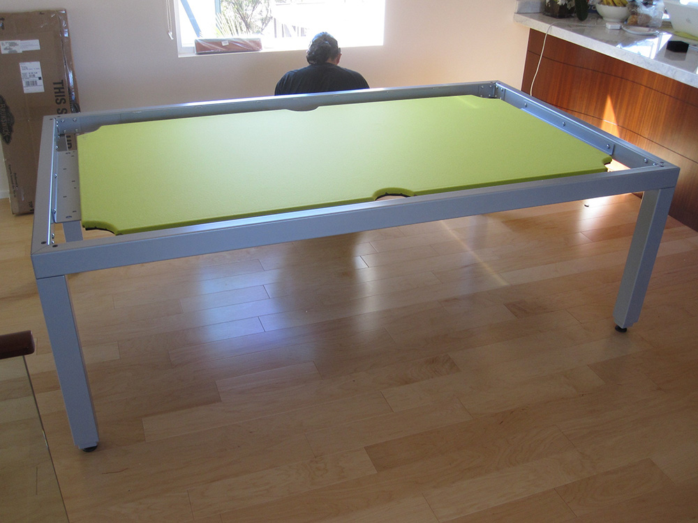 Aramith fusion table with a lime twist dk billiards pool for 1 piece slate pool table