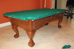 This client chose Dark Green billiard cloth.