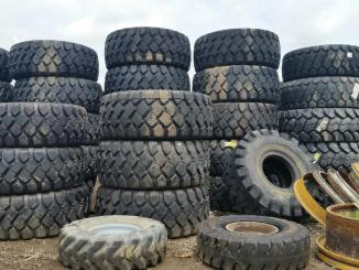 A big stack of tires