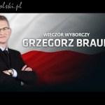 Wieczór wyborczy Grzegorza Brauna
