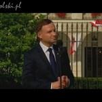 Spotkanie i przemówienie prezydenta Andrzeja Dudy z mieszkańcami Warszawy