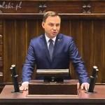 Orędzie prezydenta Andrzeja Dudy na VIII kadencję Sejmu!