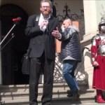 Grzegorz Braun w Poznaniu na uroczystościach 1050 lecia Chrztu Polski