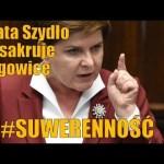 Premier Beata Szydło masakruje targowicę w Sejmie RP