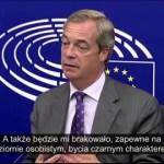 Nigel Farage: Czego będzie mi brak