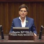 Premier Szydło składa obietnice w sprawie ochrony życia