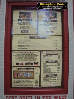 Small Of Cook Out Menu