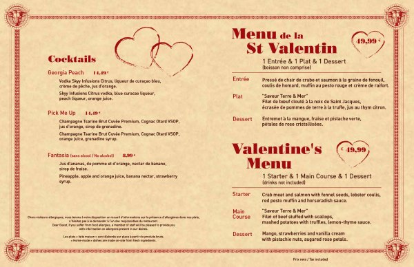 The Steakhouse - Valentine's Day 2015