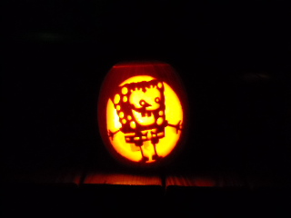 carving of SpongeBob