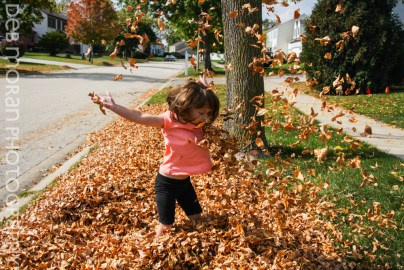 Tossing leaves