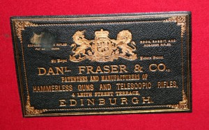 Daniel Frase & Co, original gunmaker's label