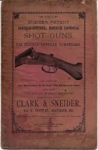Front cover of an original Clark & Sneider catalog