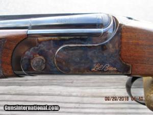 """SIG ARMS """"LL BEAN"""" NEW ENGLANDER BY RIZZINI 20 GA. OVER/UNDER SHOTGUN AS NEW IN HARD CASE"""