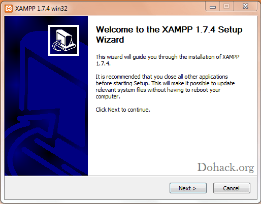 Xaamp windows installer