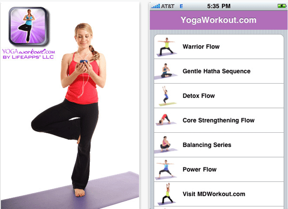 Yogaworkout iphone app
