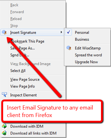insert email signature on any email client