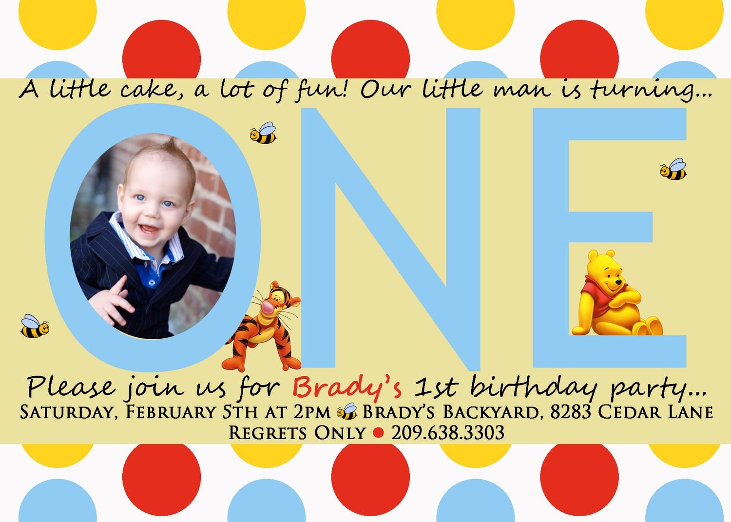 Formidable Winnie Pooh 1st Birthday Invitations Templates Birthday Invitations Template Birthday Invitations Etsy invitations First Birthday Invitations