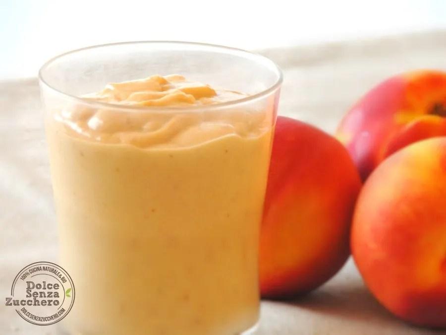 Mousse di Pesche Senza Uova, Senza Latte, Senza Zucchero