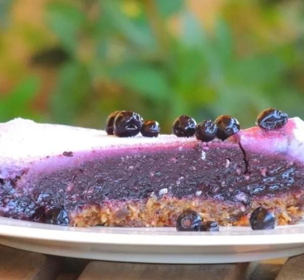 Torta Mirtilli Senza Cottura e Senza Glutine