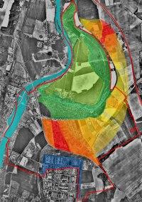širší územní plán Veltrus na ortofotomapě