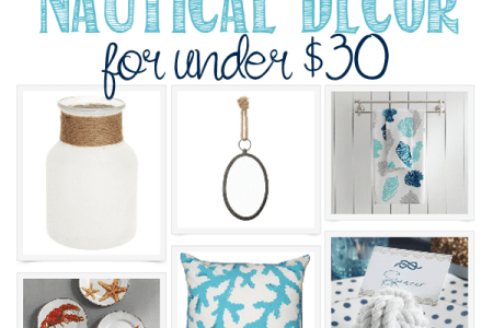 nautical decor for under 30 great beachy decor items for your home to add some coastal vibe