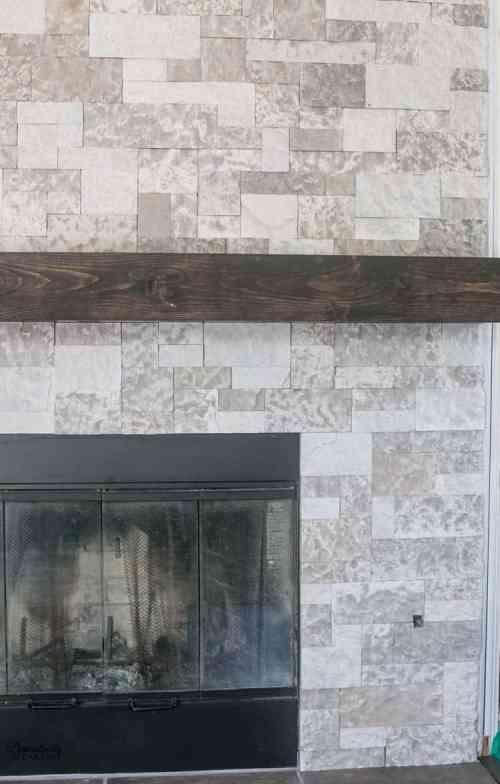 Medium Of Faux Stone Fireplace