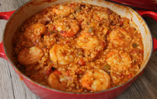 brown-rice-jambalaya-with-shrimp-chicken-sausage-and-bell-peppers-step-6