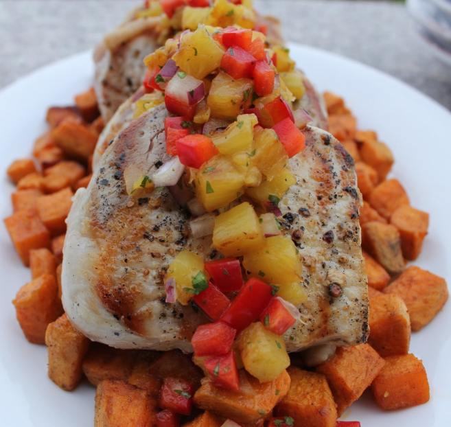 pork-chops-with-grilled-pineapple-salsa-and-spiced-sweet-potatoes-4