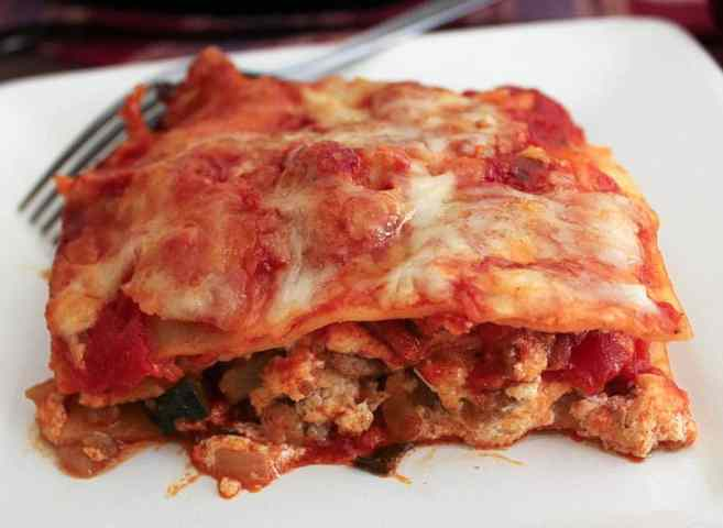 Skillet Lasagna with Turkey Sausage and Vegetables ...
