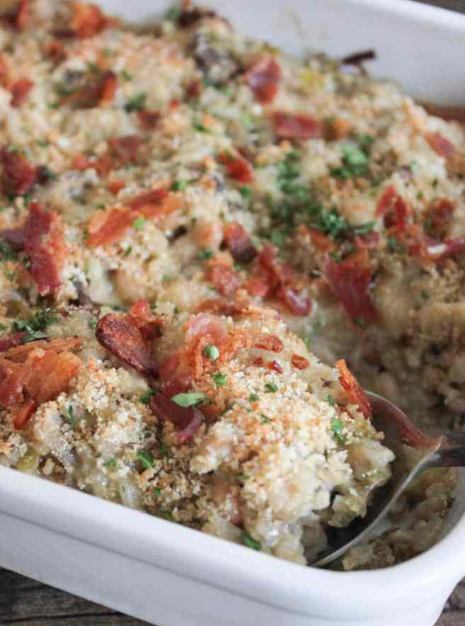 Mushroom-White-Bean-and-Brown-Rice-Casserole-With-Bacon-and-Gruyere-2