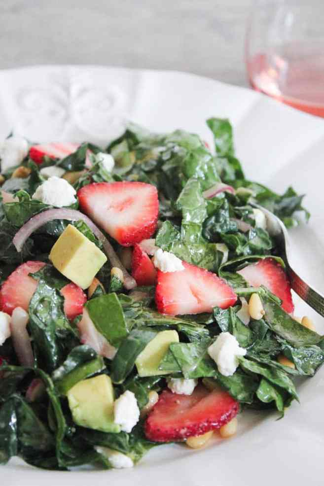 Summer-Kale-Salad-with-Strawberries-Avocado-Pine-Nuts-and-Goat-Cheese-10