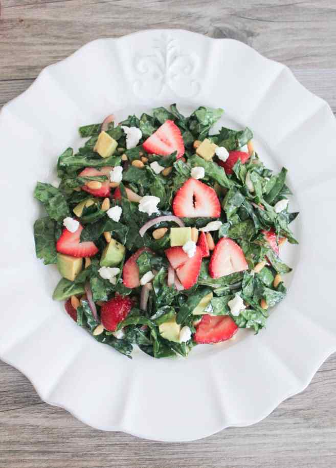 Summer-Kale-Salad-with-Strawberries-Avocado-Pine-Nuts-and-Goat-Cheese-5