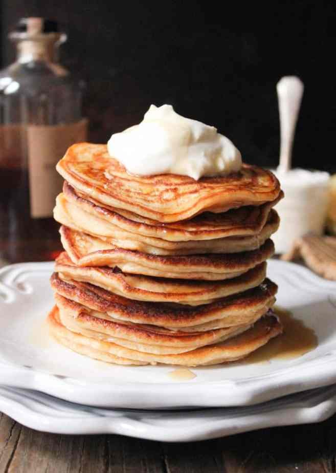 Cinnamon-Ricotta-Pancakes-with-Maple-Bourbon-Whipped-Cream-5