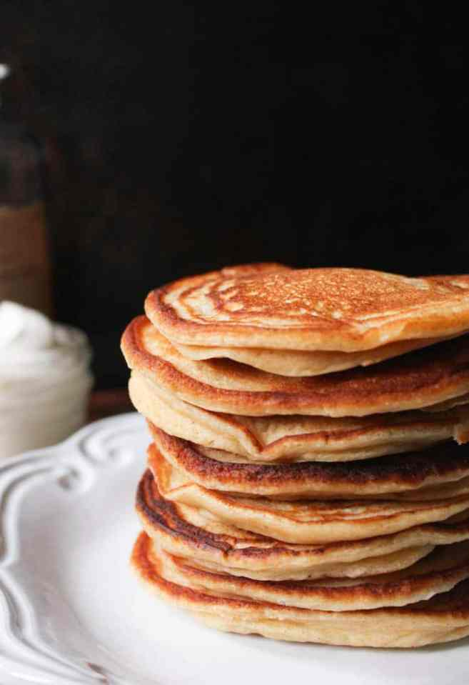 Cinnamon-Ricotta-Pancakes-with-Maple-Bourbon-Whipped-Cream-9