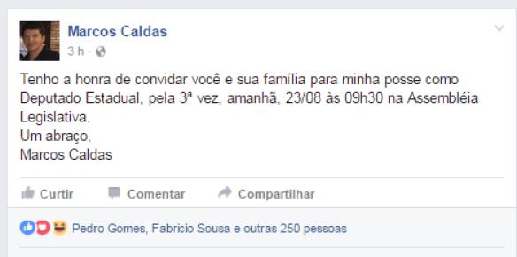 Marcos Caldas anuncia retorno à Assembleia Legislativa do MA