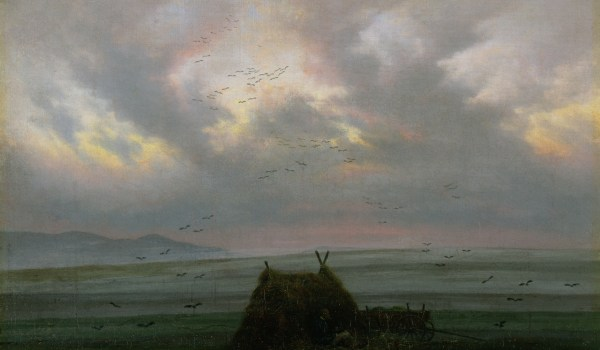 XKH141325 Waft of Mist, c. 1818-20 (oil on canvas); by Friedrich, Caspar David (1774-1840); 32.5x42.4 cm; Hamburger Kunsthalle, Hamburg, Germany; German, out of copyright