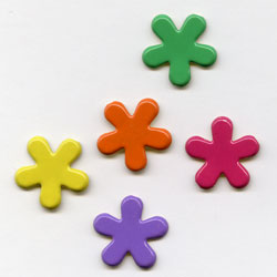 """Tropical -- 1/2"""" Funky Flower -- Paper Fasteners -- 50 Pack"""