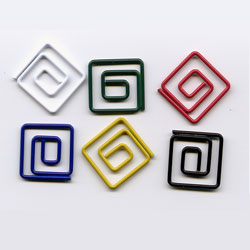"Primary -- 1/2"" Mini Square Paper Clips -- 15 Pack"