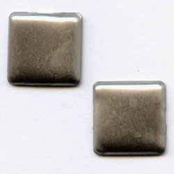 """Pewter 1/4"""" Square -- Paper Fasteners -- 50 Pack"""