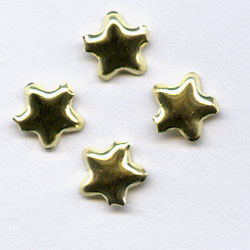 "Gold -- 3/16"" Mini Star -- Paper Fasteners -- 100 Pack"