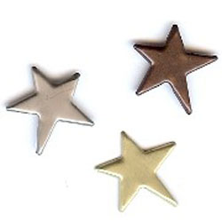 """Antique Assorted -- 5/8"""" Primitive Star -- Paper Fasteners -- 25 Pack"""