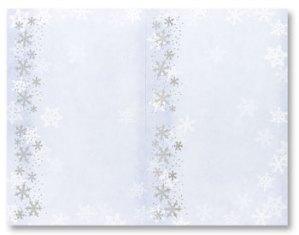 Foil Flakes -- 6 Sheets -- 24 Postcards per pack