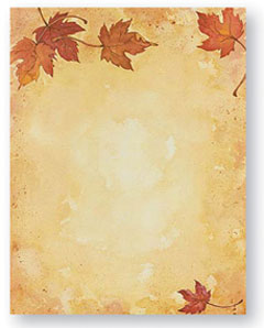 Fall Leaves -- 100 Sheet Package -- 8 1/2 x 11