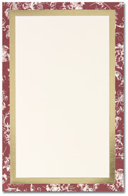 Burgundy Toile -- 50 Invitations