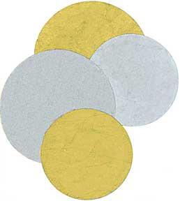 """Cut Shapes -- Circles-Gold/Silver -- 2""""-3"""""""