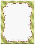 "Peppermint Twist -- Holiday Stationery -- 8 1/2"" x 11"" -- 100 Sheets"