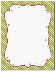 """Peppermint Twist -- Holiday Stationery -- 8 1/2"""" x 11"""" -- 100 Sheets"""