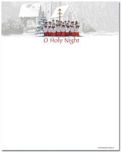 "Singing Choir -- Holiday Stationery -- 8 1/2"" x 11"" -- 100 Sheets"
