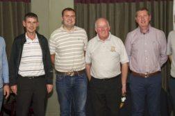Prizewinners from the Value Centre Wholesale sponsored Open at Letterkenny Golf Club, l-r, Ronan O' Corrain, Anthony Bonnar, Darragh Heaney, Captain Ivan Fuery, Kieran Brogan, sponsor, and Seamus Patton.