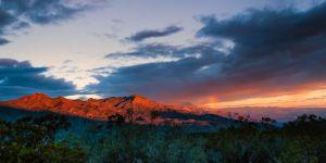 Rainbow and Sunrise, Santa Rosa Mountains, California